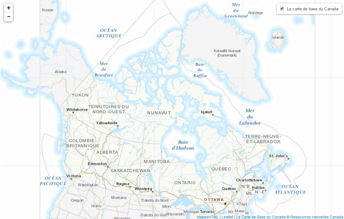 Web Maps - Canada Base Map