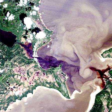 image satellite : North West River, Labrador, LANDSAT TM