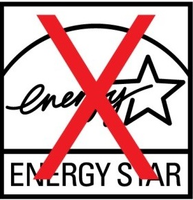 improper reverse of the ENERGY STAR symbol