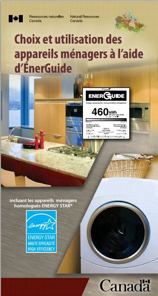Cover for Choosing and Using Appliances with EnerGuide