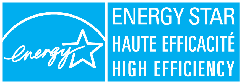 Le symbol d'ENERGY STAR haute efficacité : high efficiency