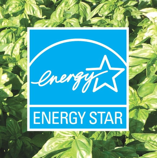 ENERGY STAR symbol on a busy background