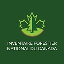 Image d'une carte du Canada superposée du texte : IFN, Inventaire forestier national du Canada.
