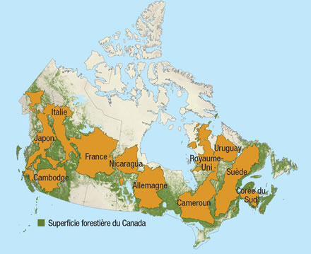 Map of Canada showing...